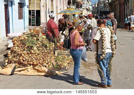 Marketplace In Cuba