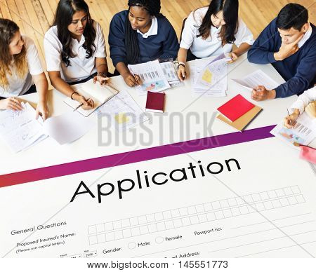 Application Online College Form Concept