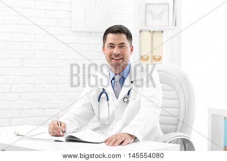 Pediatrician doctor in office