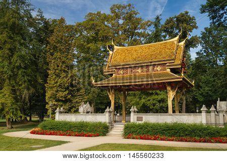 Sala Thai Pavillion in the summer Bad Homburg Hesse Germany