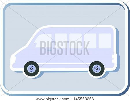 Icon With Isolated Minibus
