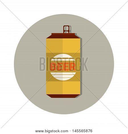 Beer Can Oktoberfest Festival Holiday Decoration Banner Flat Vector Illustration