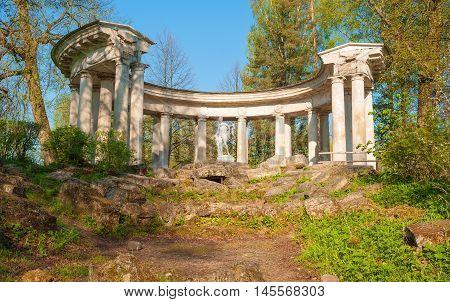 Ruins of Apollo in Pavlovsk Park near St. Petersburg