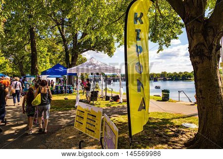 Harrisburg PA - September 3 2016: It's Kipona time in the Pennsylvania Capital City as the annual festival takes place along the Susquehanna River.