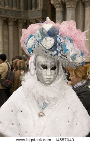 VENICE, ITALY - FEBRUARY 27: Participant in The Carnival, an  festival that starts around two weeks before Ash Wednesday and ends on Shrove Tuesday or Mardi Gras on February 27, 2011 in Venice, Italy