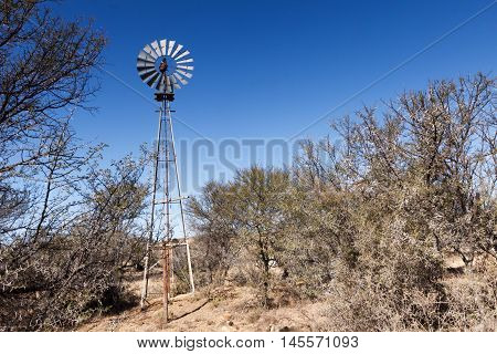 Poor Lonely Windmill At The Mountain Zebra National Park