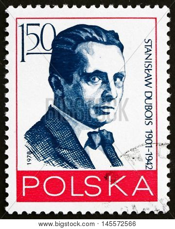POLAND - CIRCA 1978: a stamp printed in Poland shows Stanislaw Dubois Polish Journalist and Political Activist circa 1978