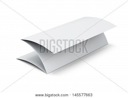 Blank Paper Booklet. 3D Illustration On White Background