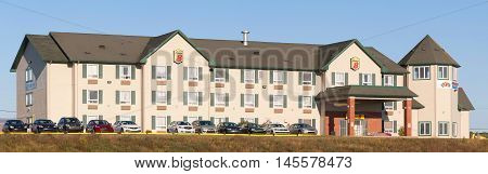 TRURO CANADA - SEPT 04 2016: Super 8 Worldwide formerly known as Super 8 Motels is a large hotel chain operating in the United States Canada and China.