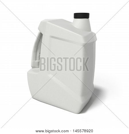 Plastic Canister For Motor Oil 3D Render Isolated On White