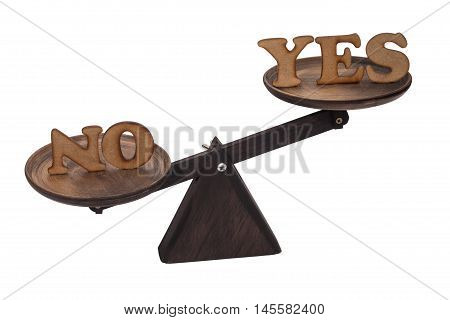 Decide between yes and no - English