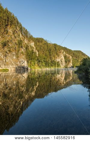Republic of Bashkortostan Russia. White River in the Ural mountains.