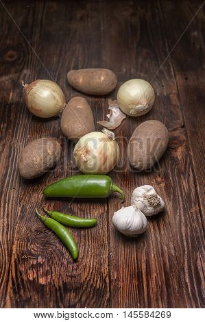 Assorted veggies for cooking. An assortment of vegetables commonly used in cooking.