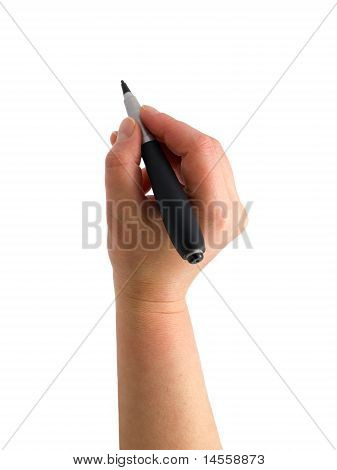 The Hand With A Pen Drawing