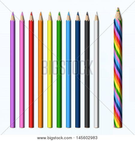 Magic pencil rainbow colored pencils set 24