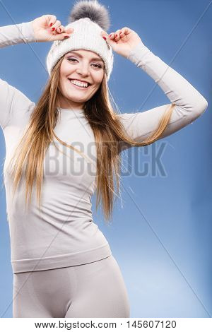 Woman In Thermal Underwear