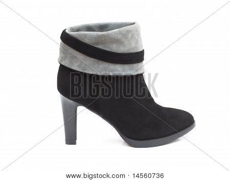 Black Female Shammy Boot Isolated On White
