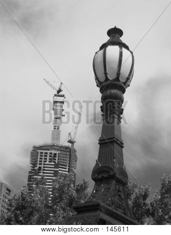 Street Lamp And The City. poster