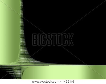 Black & Green Background - Abstract Digital Illustration