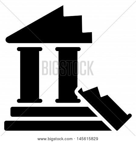 Historic Ruins icon. Vector style is flat iconic symbol, black color, white background.