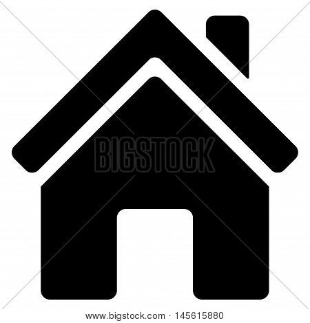 Home Building icon. Vector style is flat iconic symbol, black color, white background.