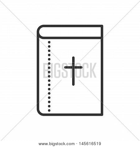 Vector Holy Bible Flat Icon. Symbol Of Christianity Religion.