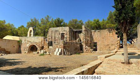 Rethymno city Greece Fortezza fortress chapel ruins landmark architecture