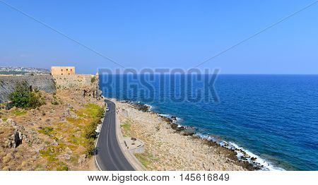 Rethymno city Greece Fortezza fortress landmark architecture