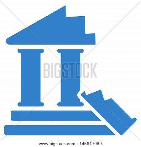 Historic Ruins icon. Vector style is flat iconic symbol, cobalt color, white background.