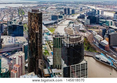 Aerial View Of Melbourne Cbd During Daytime