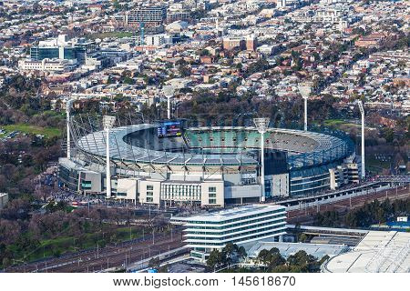 Aerial View Of Melbourne Cricket Ground