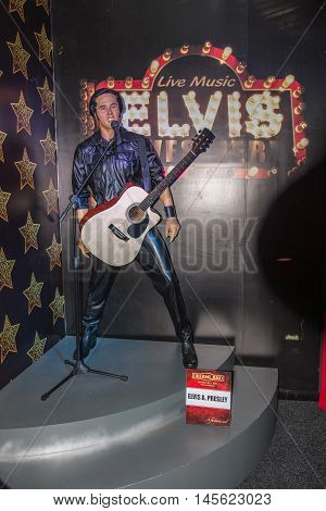 Elvis Presley Wax Figure At The Wax Museum