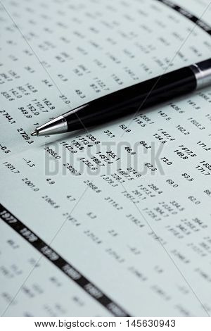 Showing business and financial balance, selective focus. Finance and economy concept.