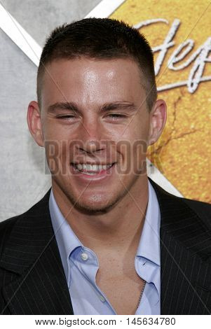 Channing Tatum at the Los Angeles premiere of 'Step Up' held at the Arclight Cinemas in Hollywood, USA on August 7, 2006.