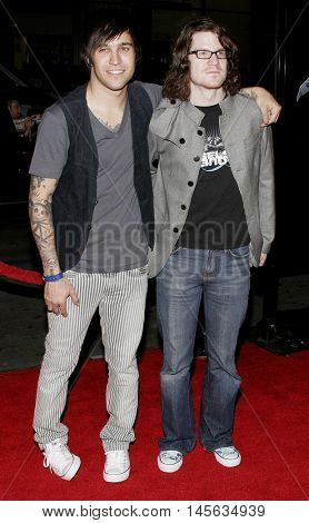 Pete Wentz of Fall Out Boy at the Los Angeles premiere of 'Snakes on a Plane' held at the Grauman's Chinese Theatre in Hollywood, USA on August 17, 2006.