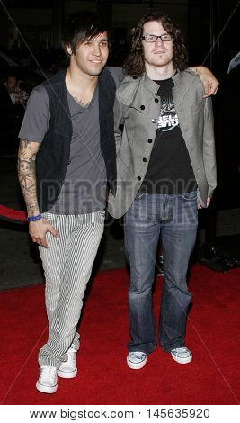 Andy Hurley and Pete Wentz at the Los Angeles premiere of 'Snakes on a Plane' held at the Grauman's Chinese Theatre in Hollywood, USA on August 17, 2006.