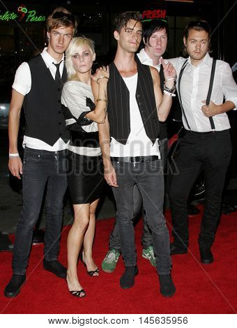 Cobra Starship at the Los Angeles premiere of 'Snakes on a Plane' held at the Grauman's Chinese Theatre in Hollywood, USA on August 17, 2006.