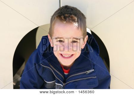 Boy Smiling Having Fun
