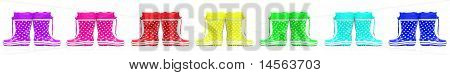 Collge Of Colorful Rubber Boots