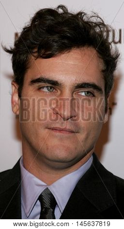 Joaquin Phoenix at the Los Angeles screening of 'Walk The Line' held at the Academy of Motion Picture Arts & Sciences in Beverly Hills, USA on November 10, 2005.