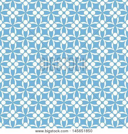 Blue floral seamless pattern. Ornamental stylish background.