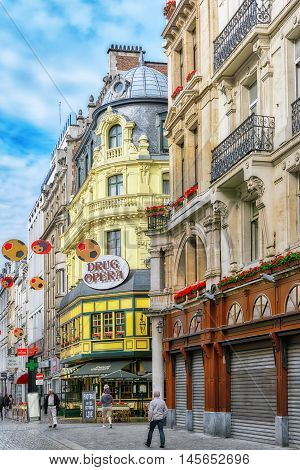 Brussels, Belgium - July 07, 2016 :city Views Cozy European Cities - Brussels, Belgium And The Europ