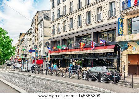 Paris, France - July 04, 2016 : City Views Of Paris, Street, Buildings, People, Tourists. Bohemian M