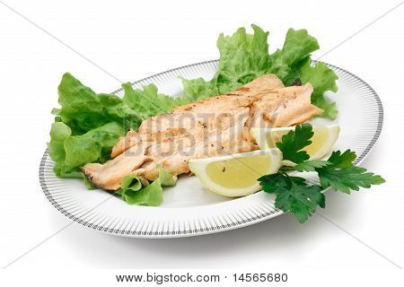 Trout Fillet With Lettuce And Lemon