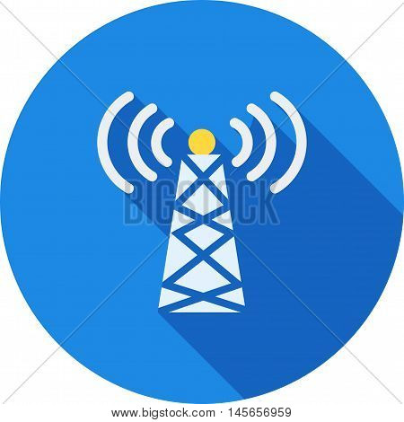 Signals, telecom, tower icon vector image. Can also be used for networking. Suitable for web apps, mobile apps and print media.