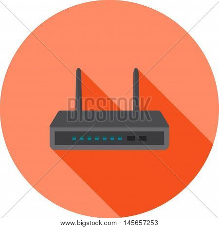 Router, wifi, modem icon vector image.Can also be used for networking. Suitable for mobile apps, web apps and print media.