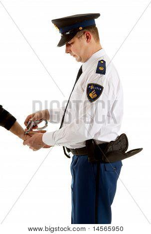 Police Man Is Making A Arrest
