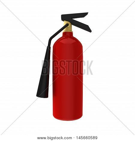 3D Rendering of fire safety extinguisher for hazards