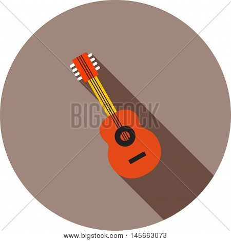 Mic, music, guitar icon vector image. Can also be used for music. Suitable for web apps, mobile apps and print media.