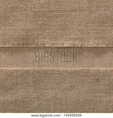 Burlap Seamless Fabric Edge Background Jute Strip Sack Cloth Frame Horizontal Line